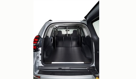 Toyota Land Cruiser Commercial Utility loadbay: payload of 593-756kg