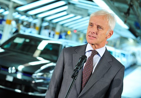 Matthias Mueller, the ex-chairman of Volkswagen