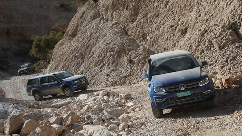 Some of the climbs are more severe than others - but the Amarok doesn't put a foot wrong