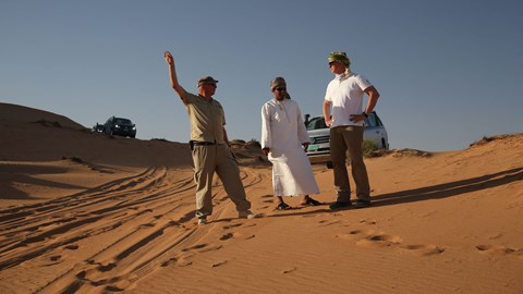 VW  Amaroks and off-roading experts in the desert