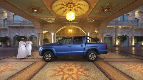 VW Amarok outside hotel in Oman