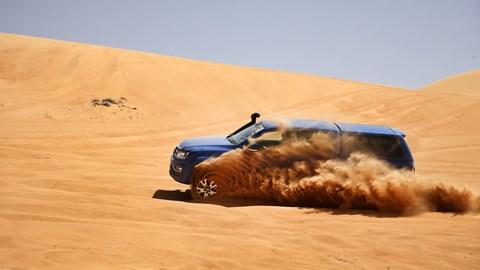 VW Amarok playing in the sand