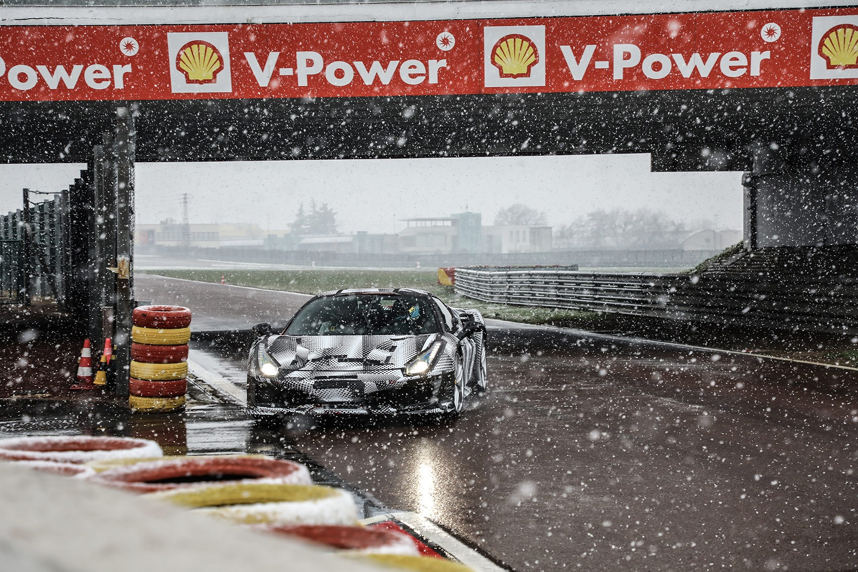 Fiorano was slippery when we drove the Ferrari 488 Pista