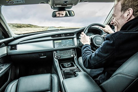 Feelgood factor: the Jaguar XF interior isn't quite as smart as rivals, but still raises a McNamara smile