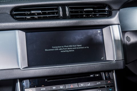 Jaguar infotainment and touchscreen: not the best