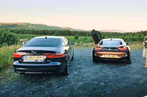 BMW XF Sportbrake estate vs XF saloon. And a BMW i8