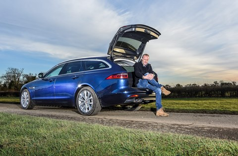 CAR magazine editor-in-chief Phil McNamara and our Jaguar XF Sportbrake