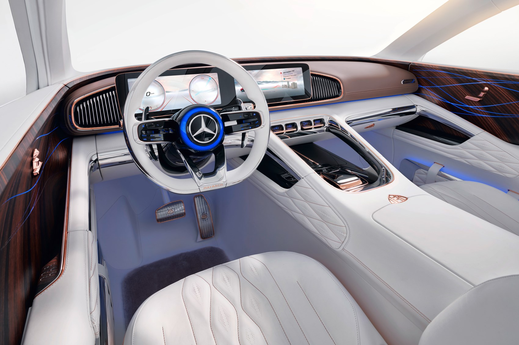 Vision Mercedes Maybach Ultimate Luxury Ev Blends Saloon