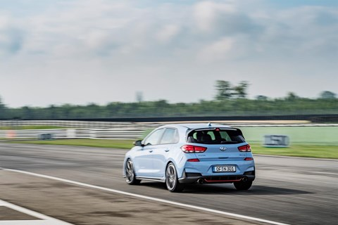 Hyundai i30 N Performance Pack on track