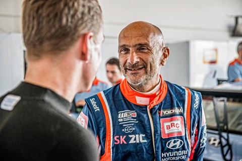 Seat race legend Gabriele Tarquini and CAR's James Taylor