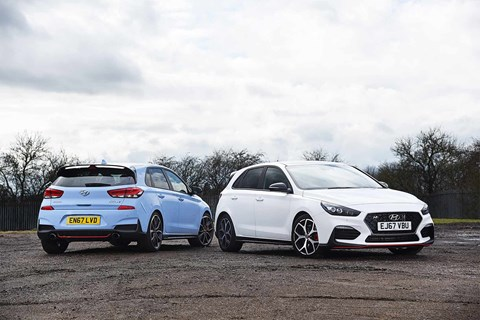 Hyundai i30 N Performance Pack and regular hot hatch