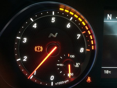 Graduated rev counter with LEDs moving the redline? Sounds like a classic BMW tacho...