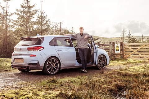 James Taylor and the CAR magazine Hyundai i30 N