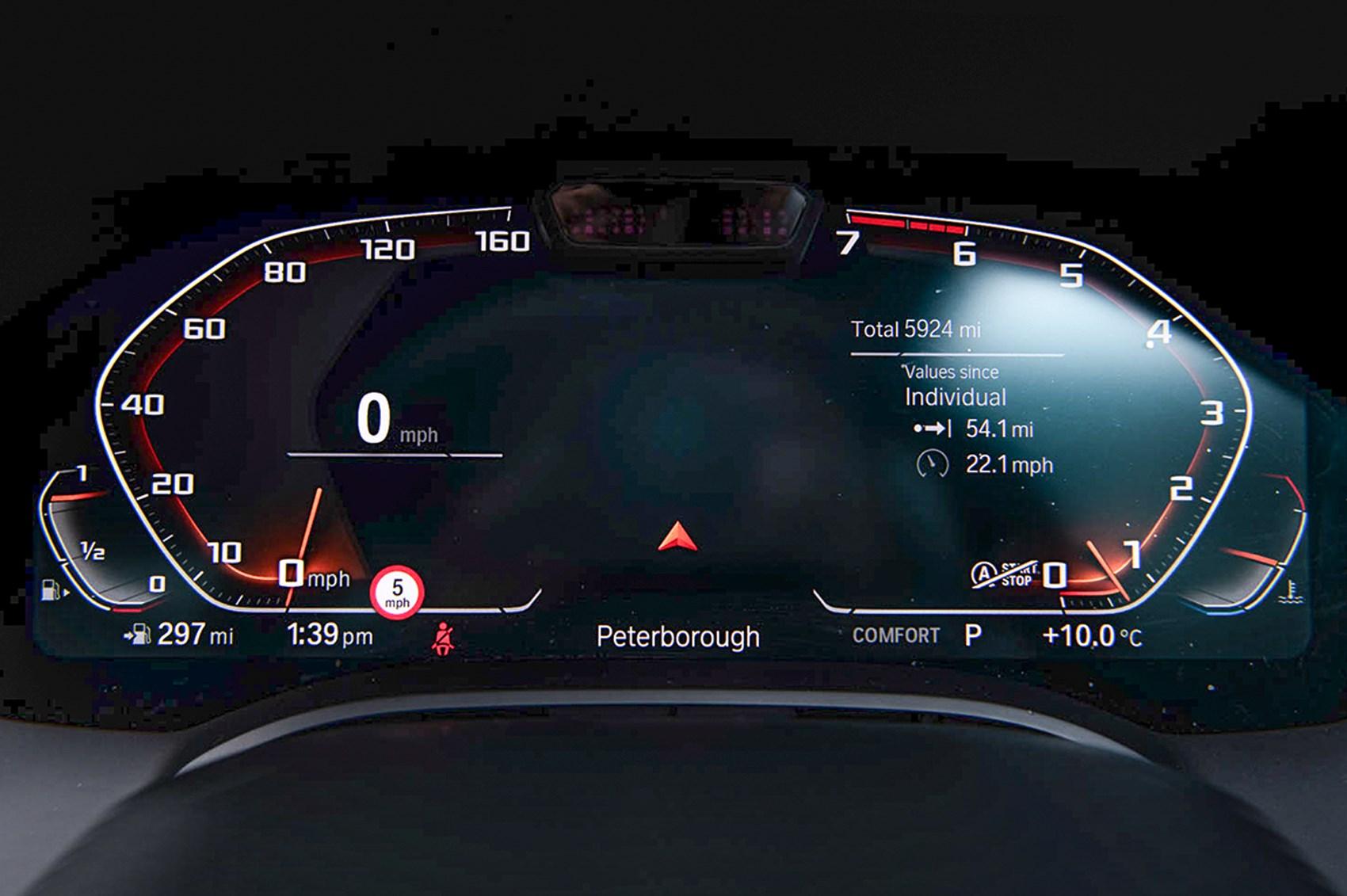 BMW M850i instruments