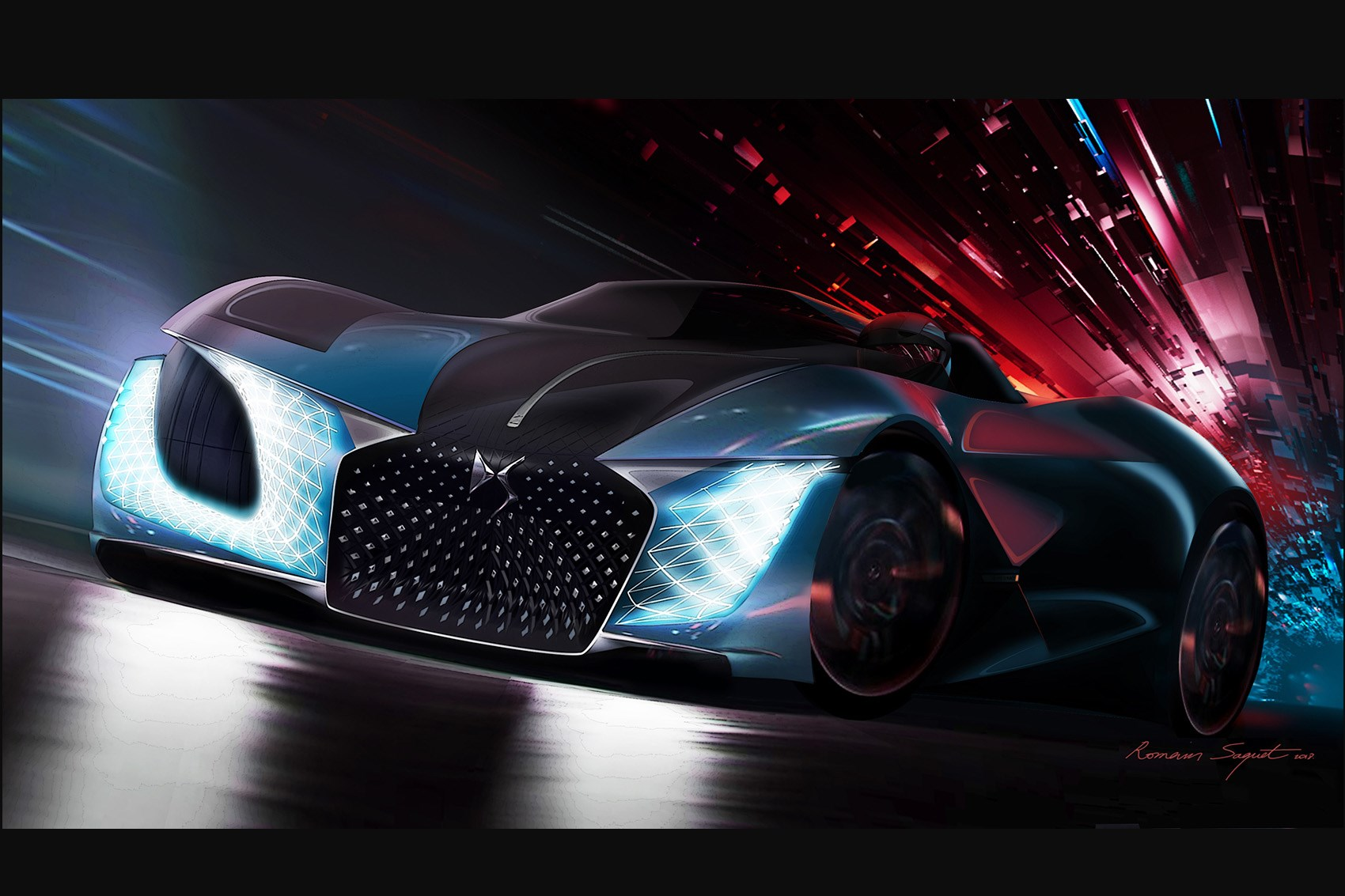 Tense concept revealed And would you just look at those headlights?