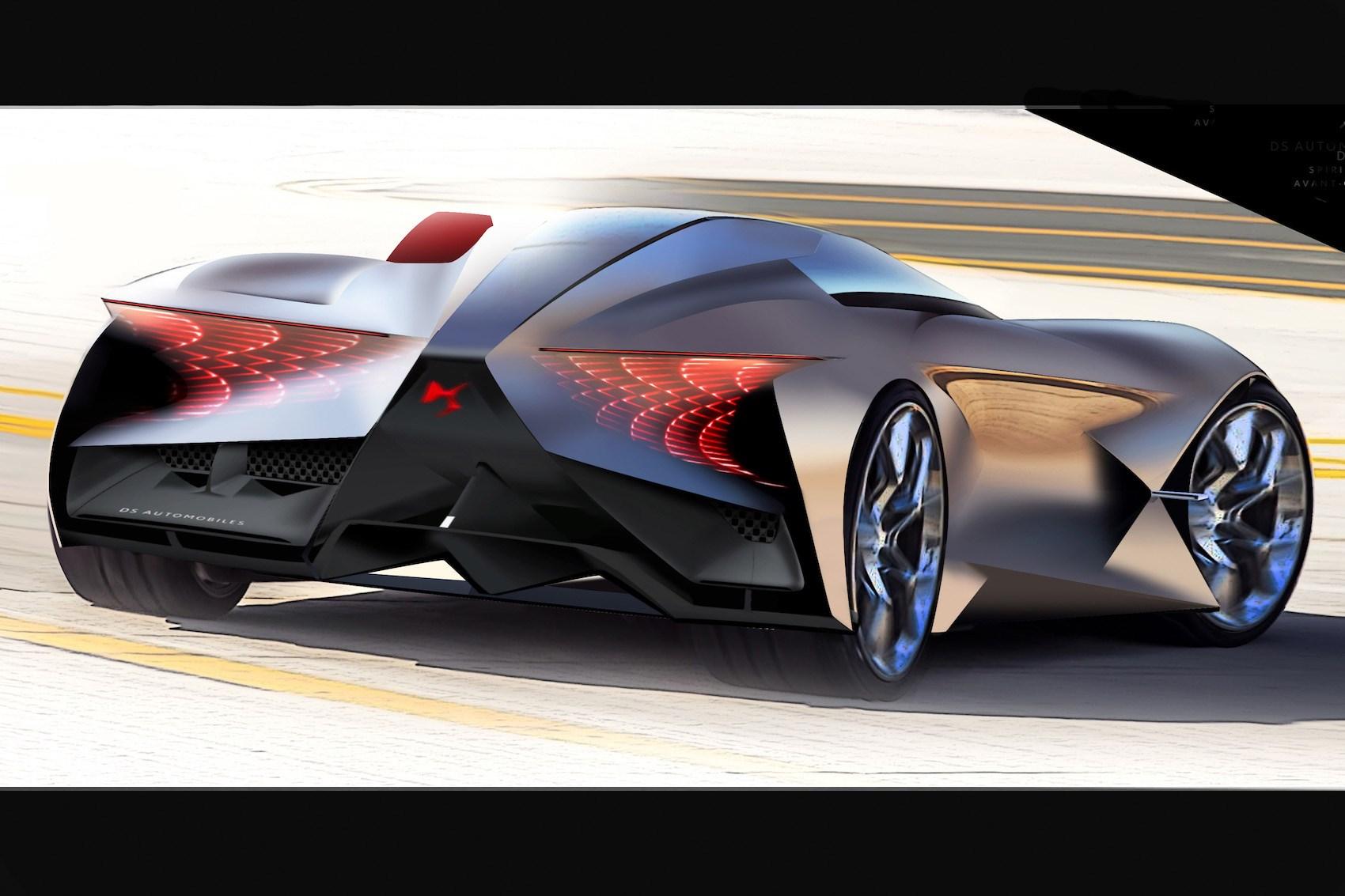 ... DS X E-Tense concept car for 2035 ...