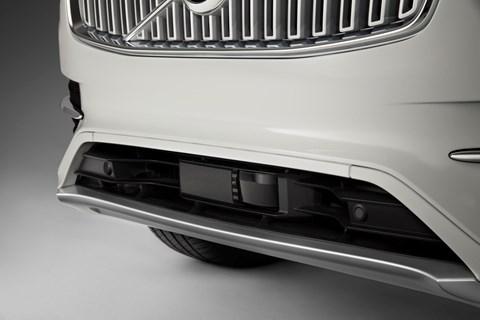 Lidar sensors in a Volvo