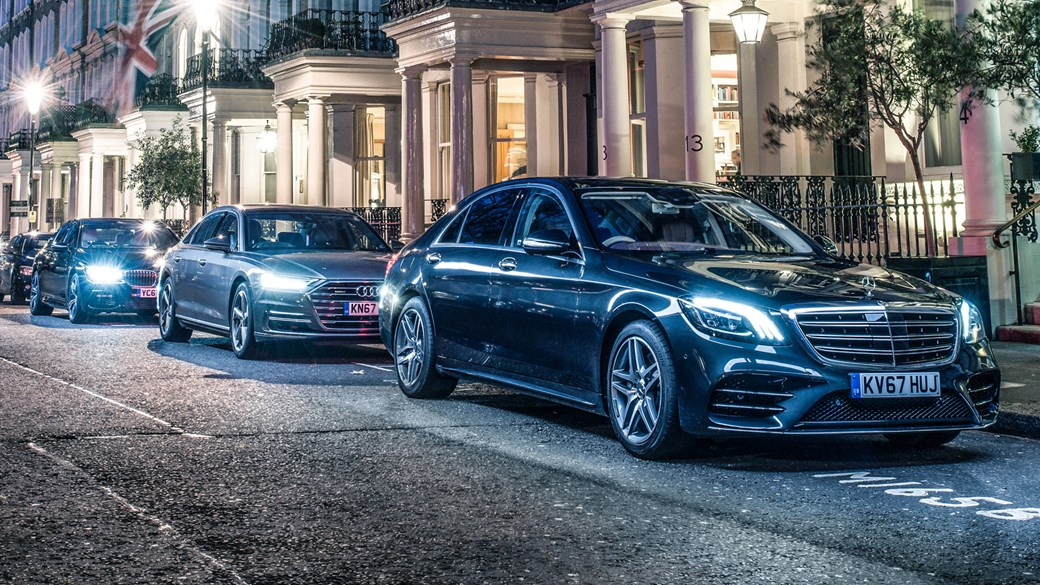 Mercedes S-class vs Audi A8 vs BMW 7-series (2018) triple test review