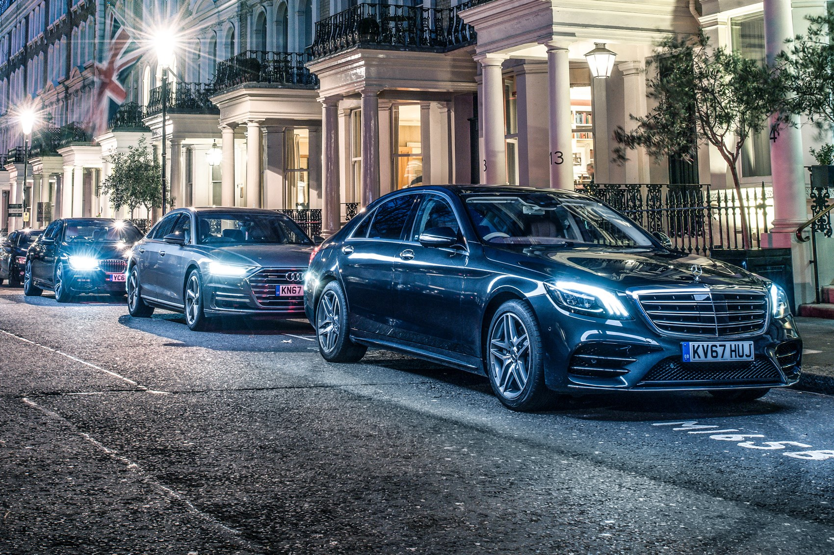 Mercedes Sclass Vs Audi A Vs BMW Series Triple Test - Bmw vs audi