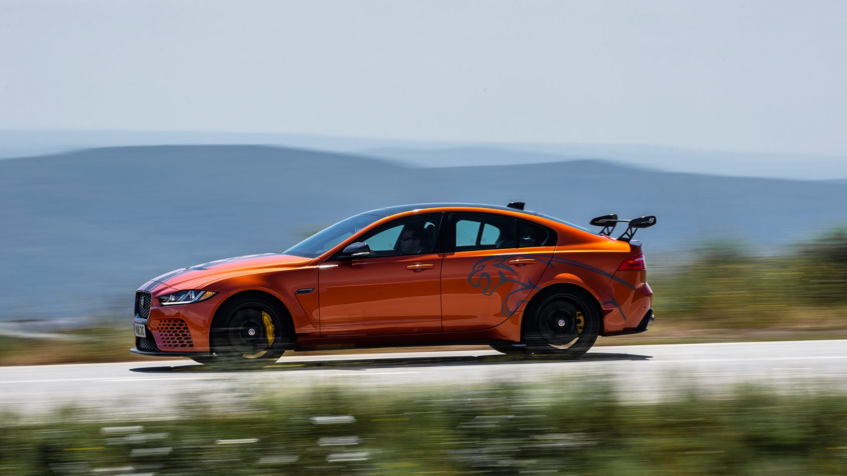Decals and aggressive aero mark out the jaguar xe sv project 8 as something a little