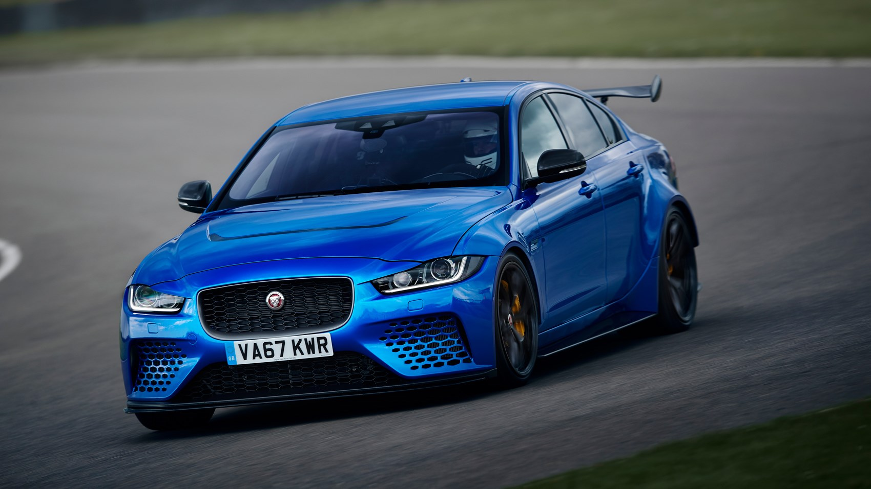 Jaguar XE Project 8 front cornering