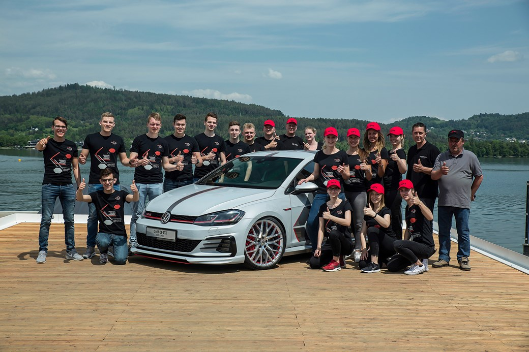 b21d55f8 They showed off two new cars that the teams from Wolfsburg and Saxony  respectively worked on – the GTI 'Next Level' and the Golf Estate TGI  GMotion (Next ...
