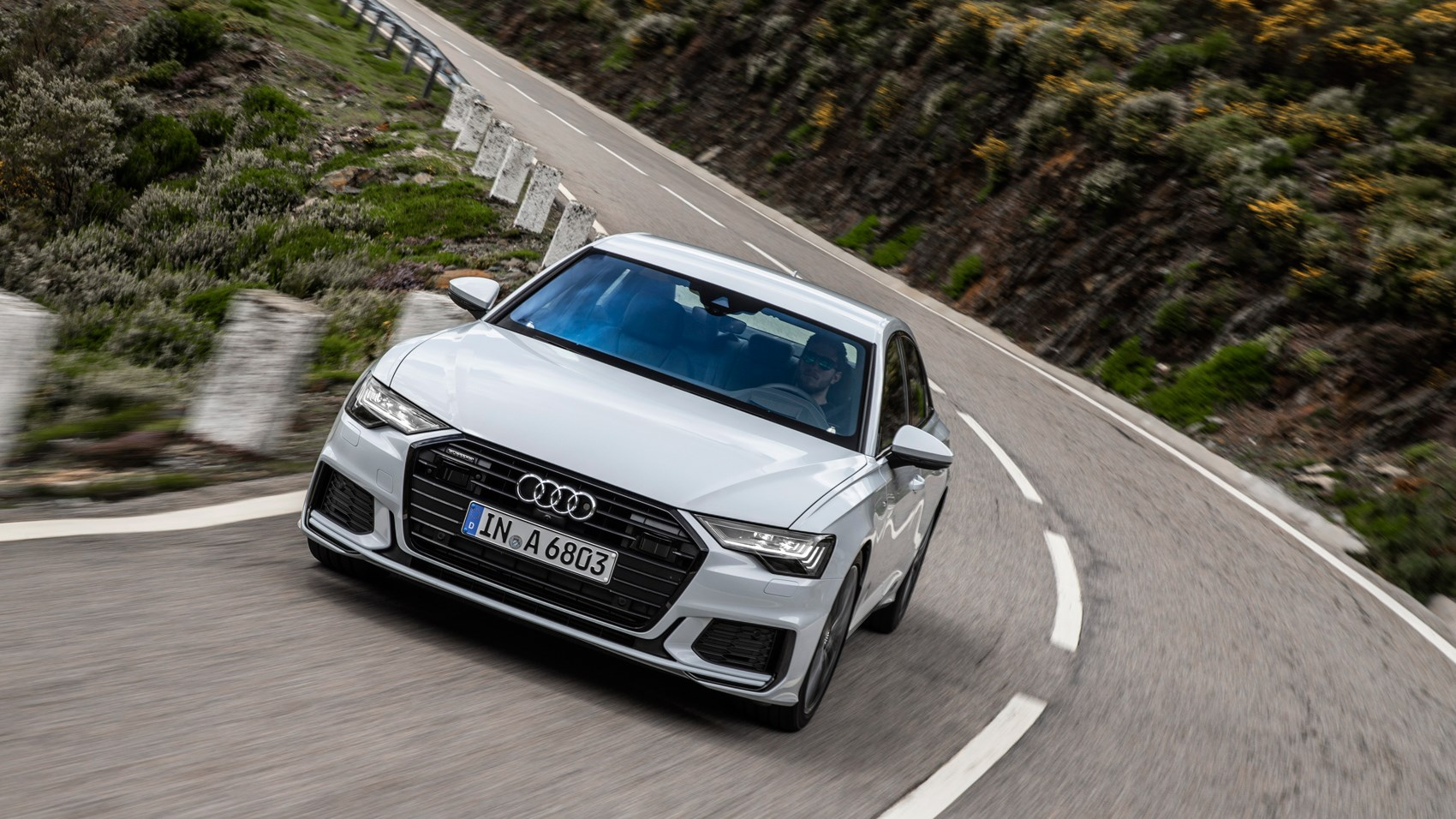 Audi A6 front cornering