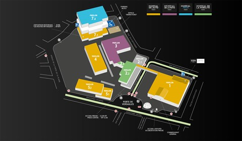 Paris motor show map and directions