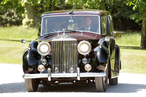 Meghan Markle is seen leaving Cliveden House Estate in a Rolls-Royce Phantom IV ahead of her wedding to Prince Harry at Windsor Castle on May 19, 2018 in Windsor, England. (Photo by Ricky Vigil/Getty Images)