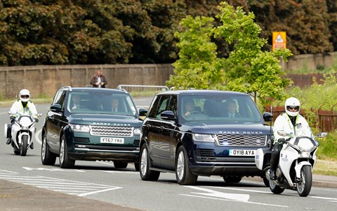Armoured Range Rovers at the royal wedding of Prince Harry and Meghan Markle
