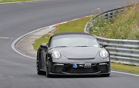 Longer rear deck: expect the 4.0 flat six and a manual gearbox for the new Porsche 911 Speedster