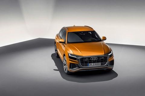 Audi Q8 front overhead