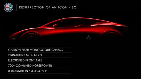 Alfa Romeo 8C is coming back as a carbonfibre 700bhp sports car
