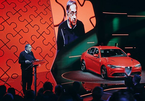 Sergio Marchionne at the launch of the Alfa Romeo Giulia