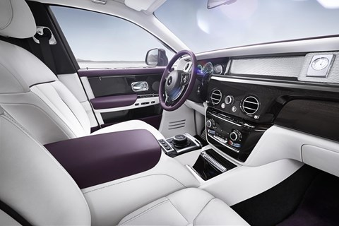 Dashboard design in new Rolls-Royce Phantom