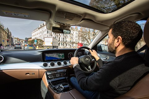 Ben Oliver driving his Mercedes E-Class All-Terrain: a consummate long-distance cruiser