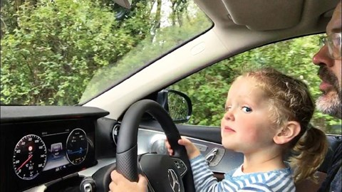 Ben Oliver's children 'driving' his Mercedes E-Class All-Terrain