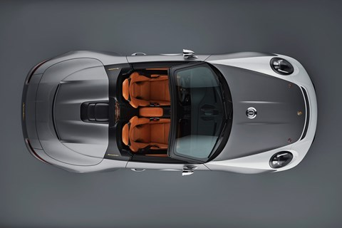Plan view of new 2018 Porsche 911 Speedster