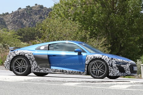 Audi R8 GT side spy shot