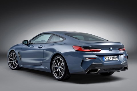 BMW 8-series rear quarter