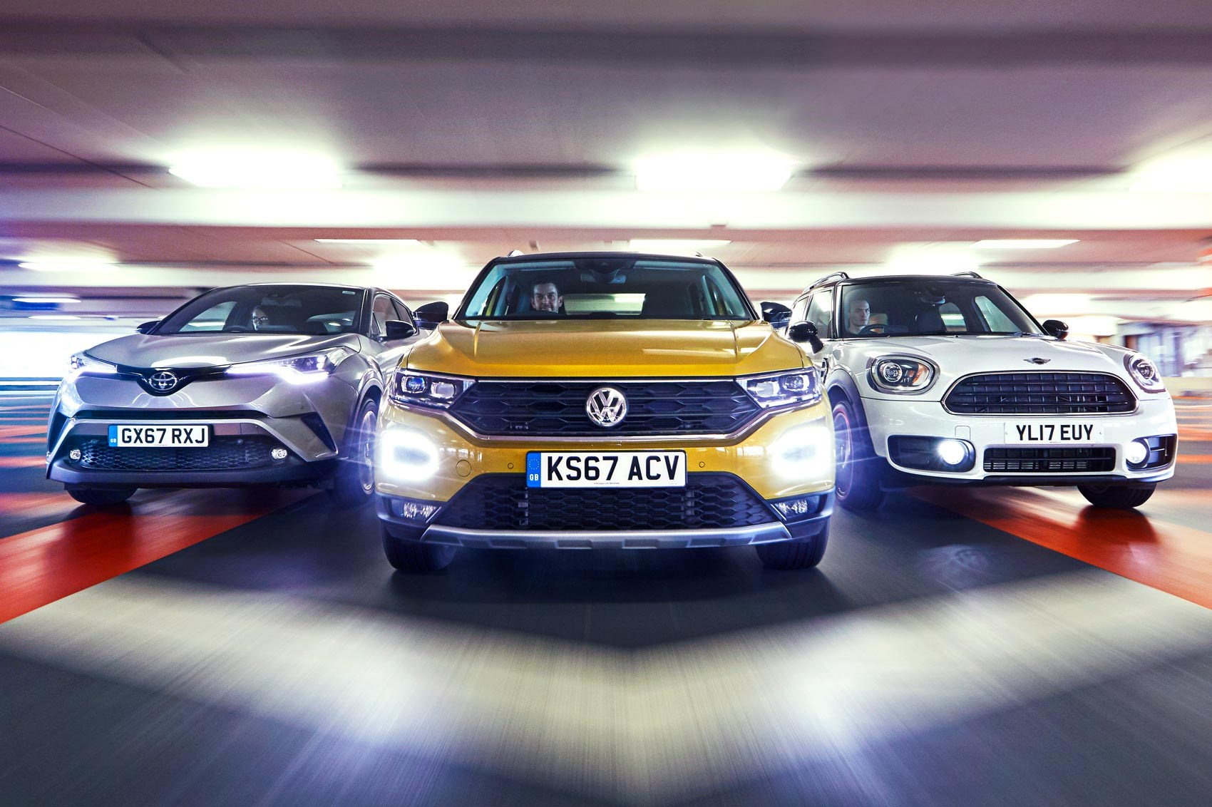 Vw T Roc Vs Mini Countryman Vs Toyota C Hr Triple Test Review Car