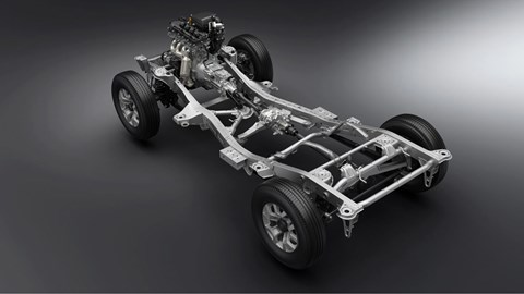 Suzuki Jimny ladder-frame chassis for 4x4 go-anywhere ability
