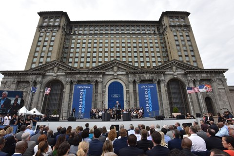 Ford will develop the Michigan Central Station in Detroit as a tech hub