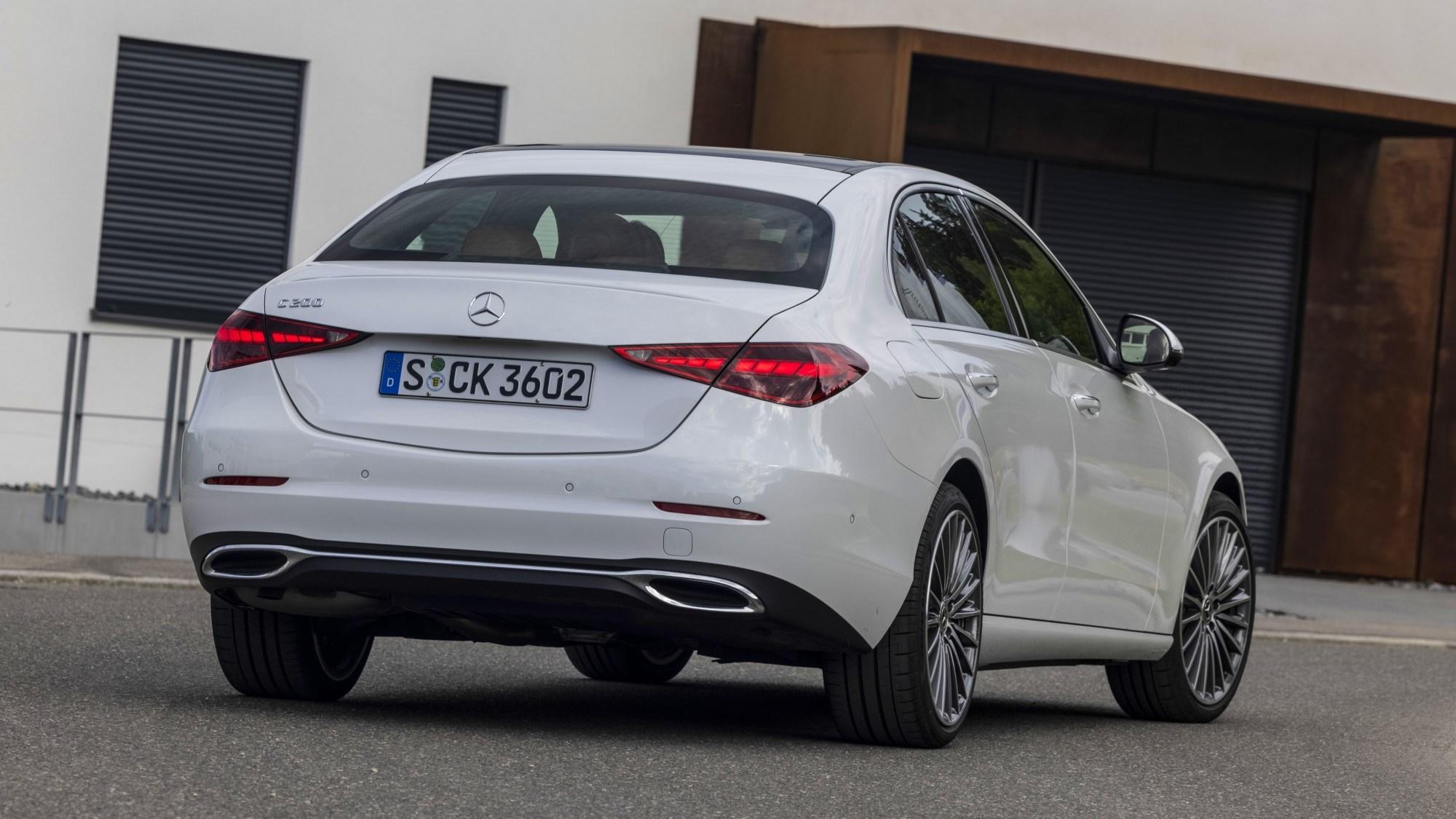 2021 Mercedes-Benz C-Class rear three quarter