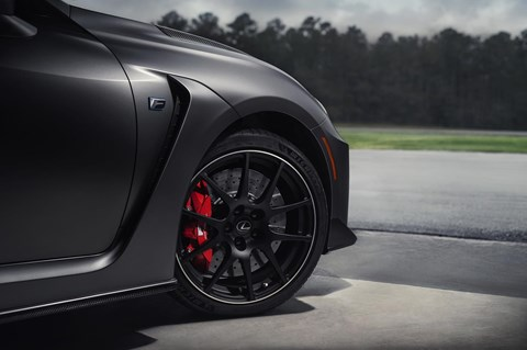 Lightweight forged BBS alloy wheels for 2019 Lexus RC F Track Edition