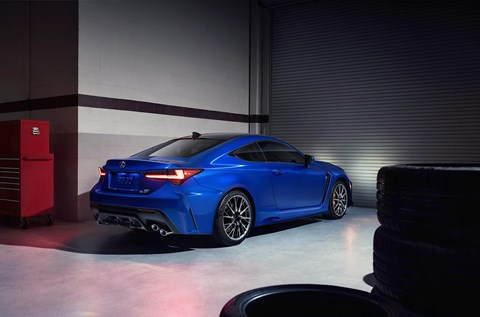 The new 2019 Lexus RC F coupe