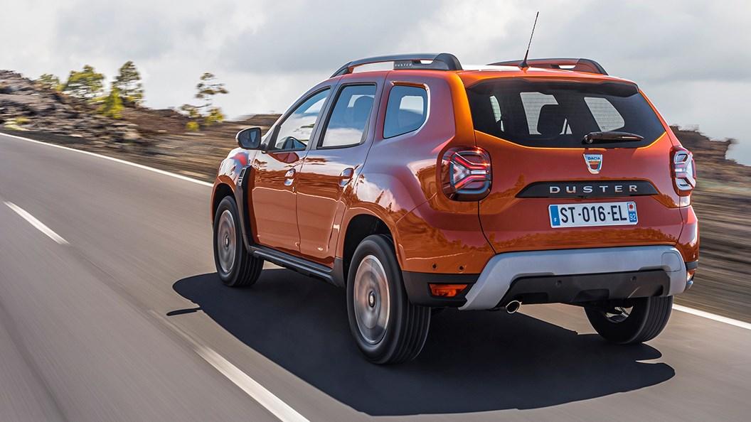 Dacia Duster (2021) rear view, driving