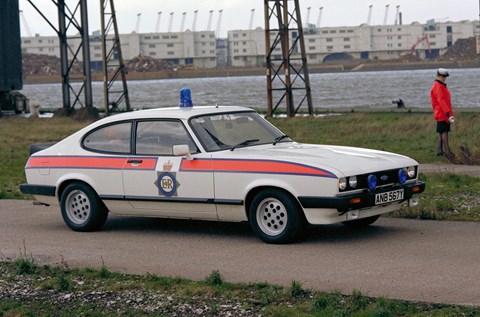 Ford Capri police car: the 2.8 V6!