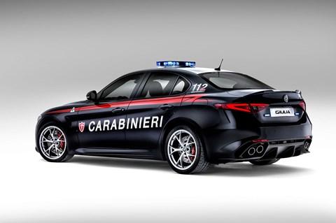 Alfa Romeo Giulia Quadrifoglio police car
