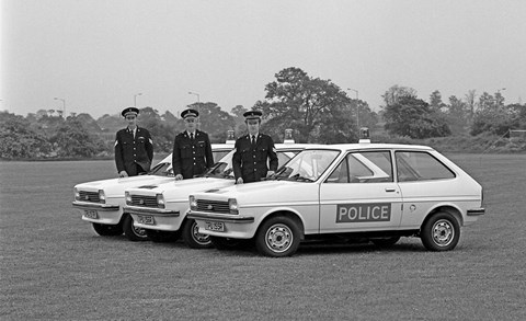 1970s Ford Fiesta police car